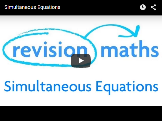 Solving Simultaneous Equations Video
