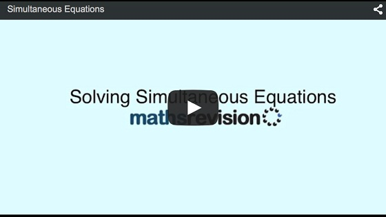Simultanaous Equations Video