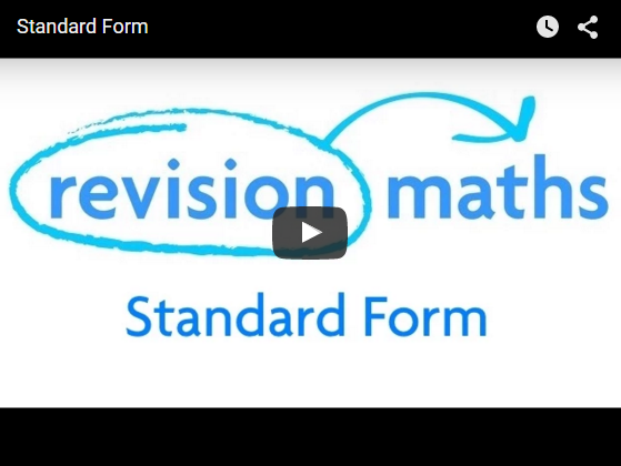 Standard Form Mathematics Gcse Revision